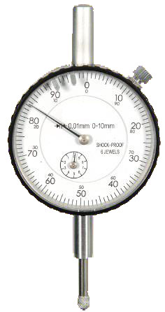 Dial indicator analogue 0-10 mm, 0,01 mm precision