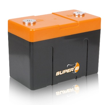 Super B Lithium battery model Andrena 12V5Ah, 13.2 V