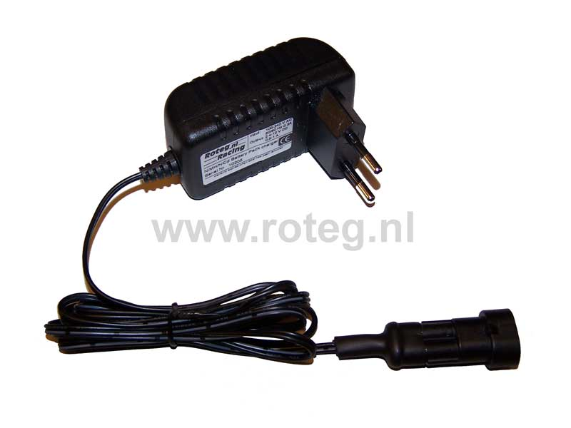 Battery charger for 2,4-12 V NiMH battery pack with conn.