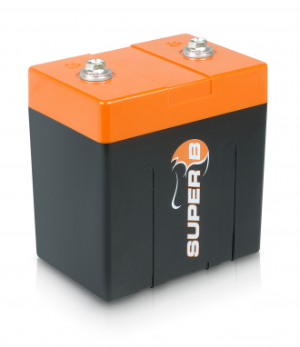 Battery Super B model SB12V10P-DC, 13.2 V 10 Ah lightweight