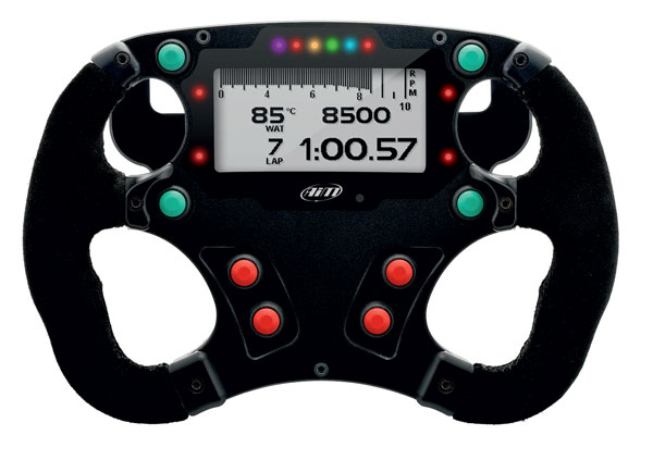 AIM Formula 3 steering wheel with paddle shifts Evo4S & Evo5