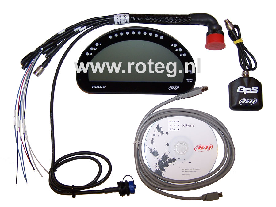 AIM MXL2 race dash datalogger set incl. GPS module