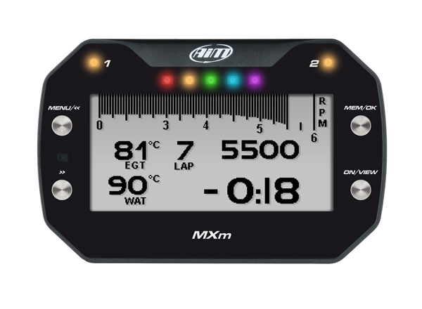 AIM MXm datalogger GPS dash set incl. 37-pins kabelboom
