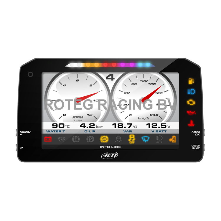 "AIM MXS Strada 6"" full color TFT dashboard with Icons"