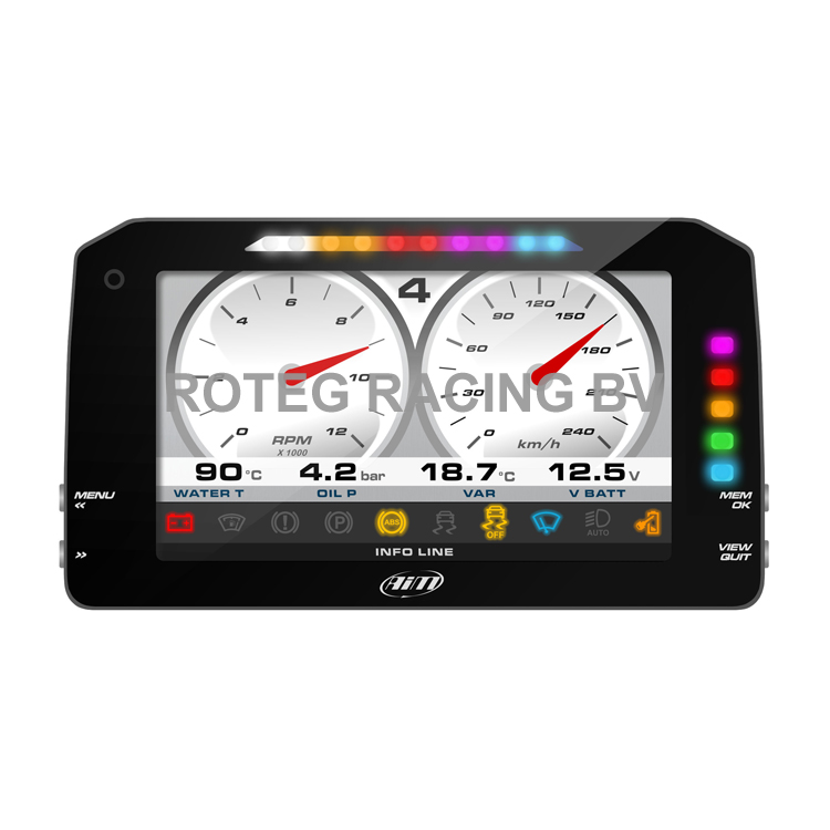 "AIM MXP Strada 6"" full color TFT dashboard"