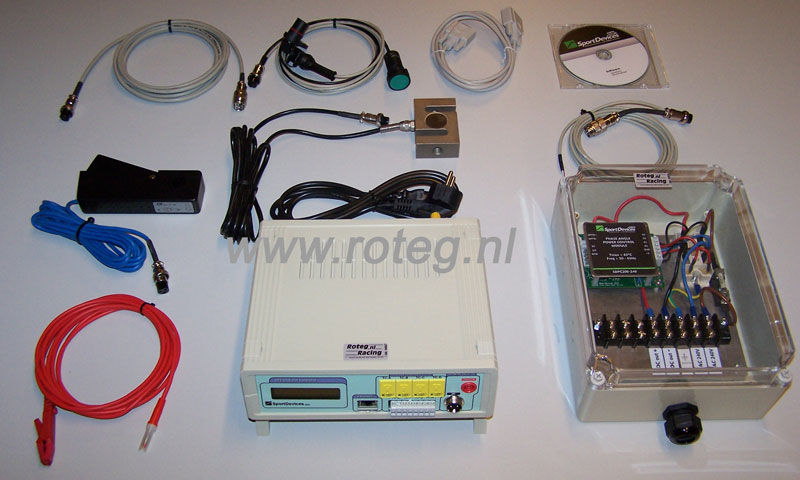 Sportdevices SP5 wervelstroomrem testbank elektronica kit