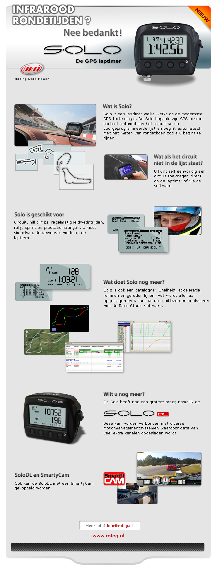 Solo DL GPS datalogger met CAN-RS232 of OBD ECU connectie