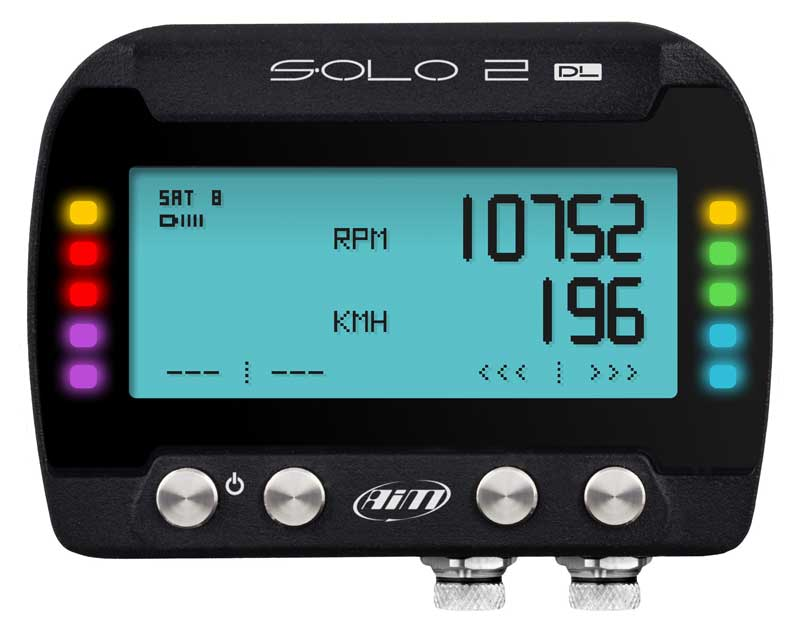 Solo2 DL GPS laptimer met RPM-ECU connectie - AIM datalogger