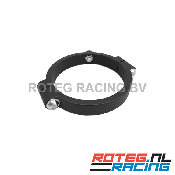 Nylon front fork clamp for suspension sensor