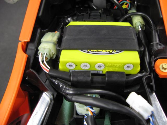 Vortex ECU fuel injection module KTM 250SXF 2011 (3D ECU) uit
