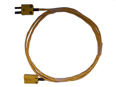Extension cable for thermocouple, 2-pin male x female 300 cm