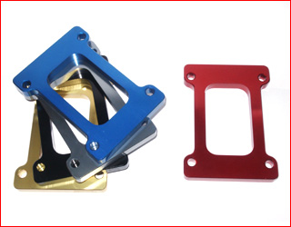 Special Rotax engine plate anodized
