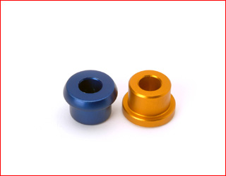 Aluminium external bushing for rear bumper