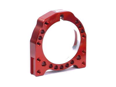 Housing for axle bearing 50 mm Blue anodized