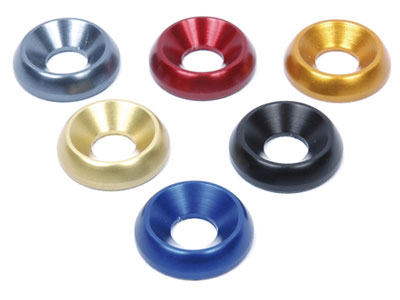 Flare washer 22x8 mm anodized