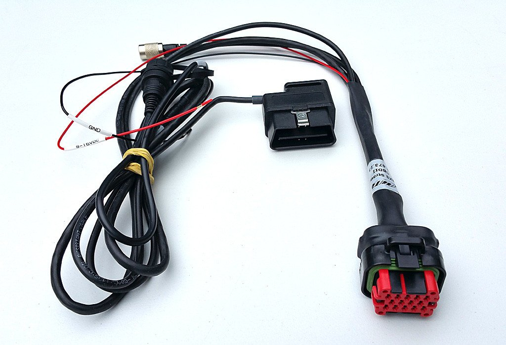 ECU cable OBD+power+USB